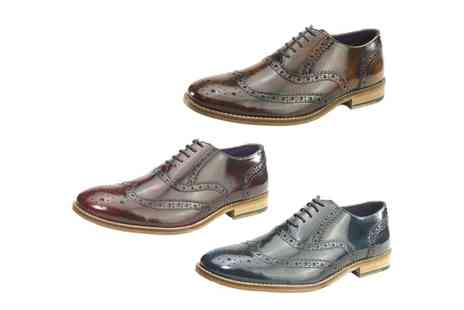Groupon Goods Global GmbH - Frank James Newman Mens Leather Brogue Shoes - Save 50%