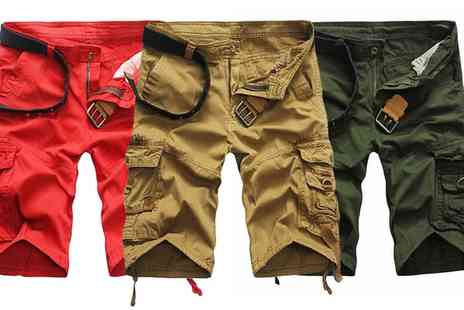 Groupon Goods Global GmbH - Mens Cargo Shorts - Save 63%