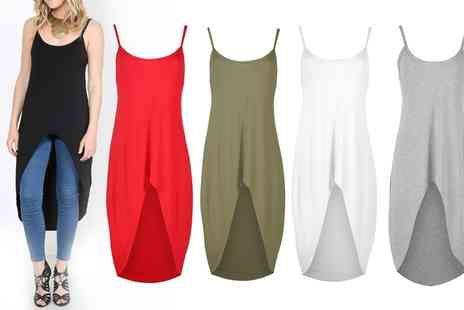 Groupon Goods Global GmbH - Womens Camisole Strappy Bodycon Hi Lo Top - Save 0%