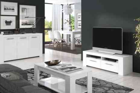 Groupon Goods Global GmbH - Curro Alpine White TV Cabinet or Sideboard - Save 43%