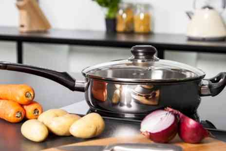Groupon Goods Global GmbH - Morphy Richards 24cm Stainless Steel Non Stick Saute Pan - Save 56%