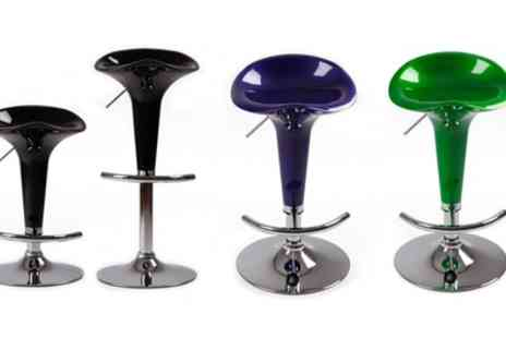 Groupon Goods Global GmbH - One or Two Curved Plastic Bar Stools - Save 0%