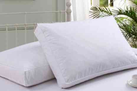 Groupon Goods Global GmbH - Two or Four Box Wall Duck Feather Pillows - Save 73%