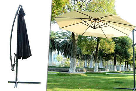 MHSTAR - 3m Cantilever Banana Parasol Two Colours - Save 70%