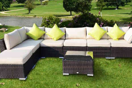 MHSTAR - Eight Piece Rattan Garden Sofa Set - Save 0%