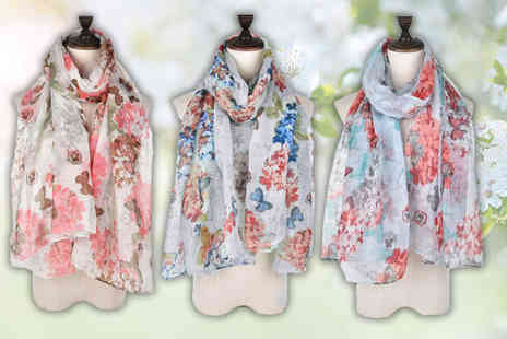 Pearl Info - Summer butterfly shawl - Save 75%