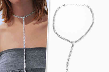 Solo Act - Double row crystal drop choker - Save 79%