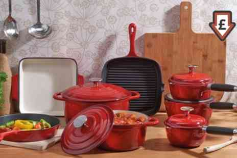 Groupon Goods Global GmbH - Cooks Professional 3, 5 or 8 Piece Deluxe Cast Iron Pan Sets - Save 69%