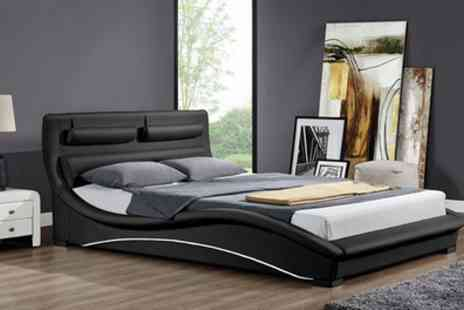Groupon Goods Global GmbH - Double or King Valletta Cushioned Bedframe with Optional Mattress - Save 37%