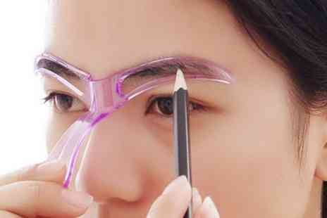 Groupon Goods Global GmbH - Eyebrow Stencil Tool with Optional Max Factor Eyebrow Pencil - Save 63%