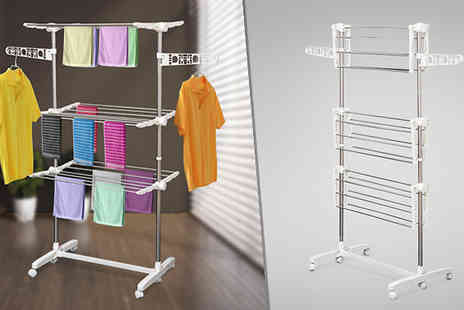MHStar Uk - 3 Tier Folding Clothes Stand - Save 0%