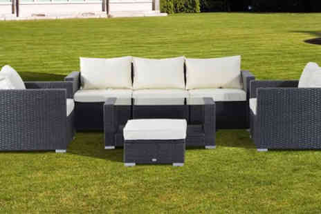 MHStar Uk - Seven Piece Rattan Garden Sofa Set with Cushions - Save 0%