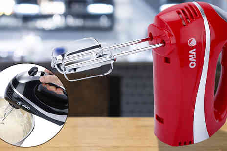Vivo technologies - Five Speed 300W Hand Held Mixer with Attachments Two Colours - Save 0%