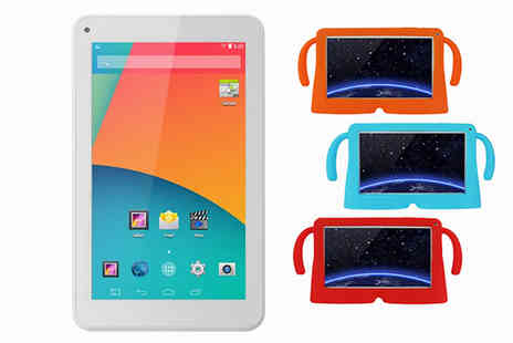 Goods Direct - Kids 9 Inch Quad Core Tablet Choice of Three Case Colours - Save 64%