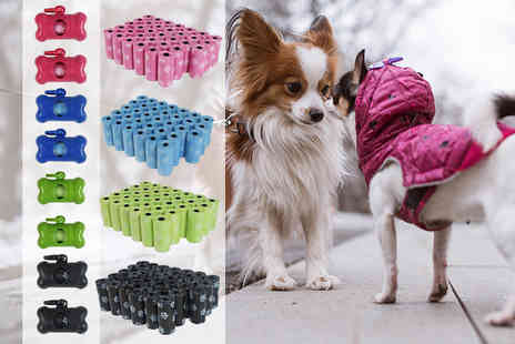 Yes Online - 680 pet clean up bags with two dispensers in black, blue, green or pink - Save 55%