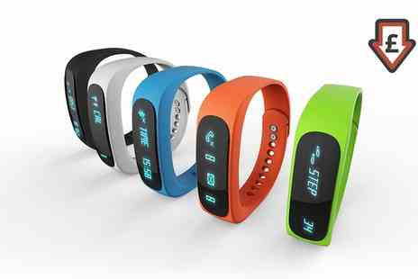 Groupon Goods Global GmbH - Smart Bluetooth Sports Activity Tracker in Choice of Colour - Save 83%