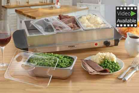 Groupon Goods Global GmbH - Cooks Professional Buffet Server and Warming Tray - Save 75%
