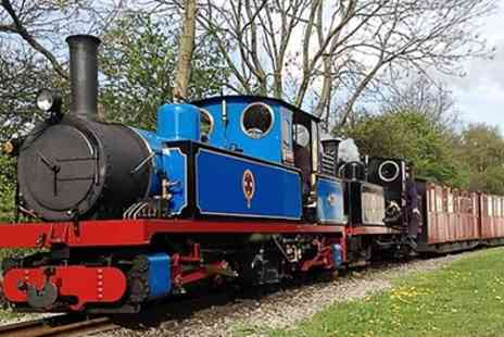 Kirklees Light Railway - Steam Train Tickets for Two Adults or a Family of Four - Save 27%