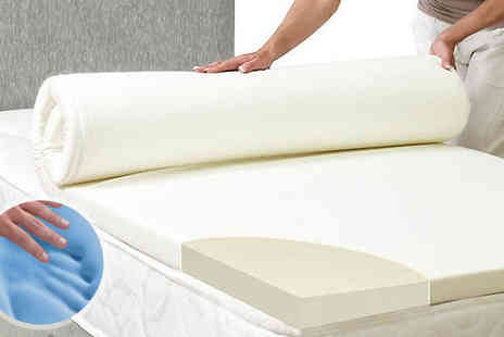 Groundlevel - Luxury Memory Foam Mattress Topper & Cover Available in Four Sizes - Save 78%