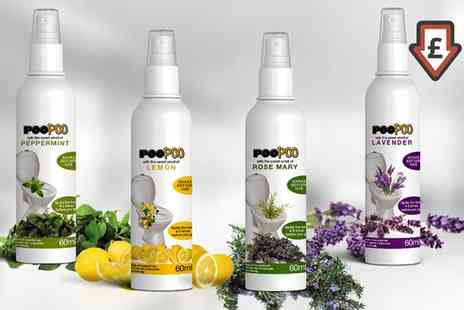Groupon Goods Global GmbH - One or Three PooPoo Toilet Sprays - Save 50%