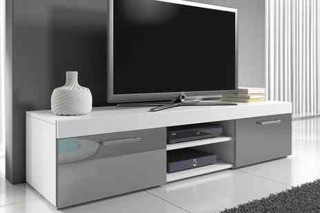 Groupon Goods Global GmbH - Mambo Gloss TV Cabinet for in Choice of Colours With Free Delivery - Save 55%
