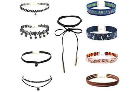 Groupon Goods Global GmbH - Nine Piece Boho Inspired Choker Set - Save 90%