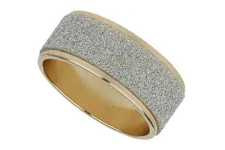 Groupon Goods Global GmbH - Gold Look Ring with Silver Glitter Effect - Save 83%