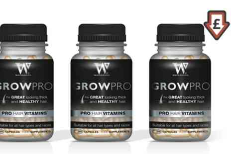 Groupon Goods Global GmbH - Watermans GrowPro Hair Vitamins One, Two or Three Bottles - Save 40%
