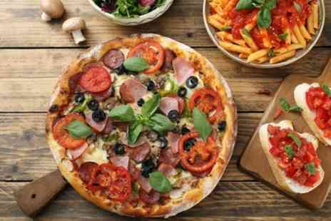 Enzee Ristorante and Pizzeria - Pasta with Garlic Bread or Pizza with Mixed Salad for Two or Four - Save 50%