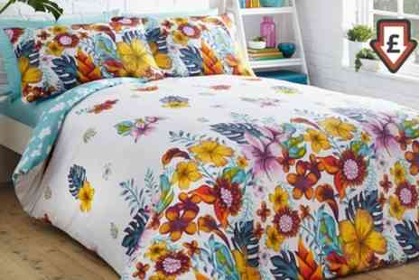 Groupon Goods Global GmbH - Tropical Island or Scandi Floral Duvet Cover Set - Save 69%