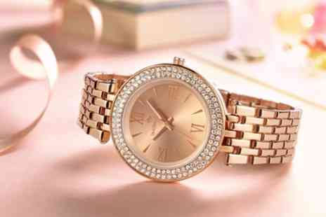 Groupon Goods Global GmbH - Timothy Stone Womens Burst Watches with Crystals from Swarovski - Save 88%