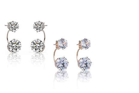 Solo Act - Two pairs of crystal stud drop ball earrings - Save 86%