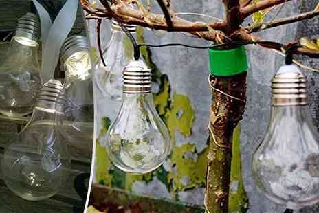 SHS Trading - Three solar LED hanging bulbs - Save 53%