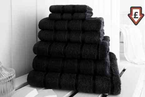 Groupon Goods Global GmbH - 7- or 14 Piece Egyptian Cotton Border Towels - Save 74%