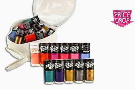 GB GIFTS - Set of 11 Collection nail polishes and case - Save 83%