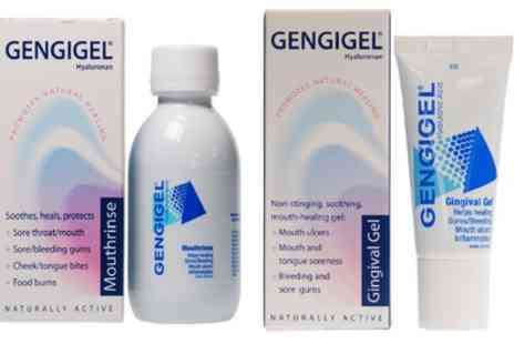 Groupon Goods Global GmbH - Gengigel Gingival Gel 20ml and or Mouthrinse 150ml - Save 0%