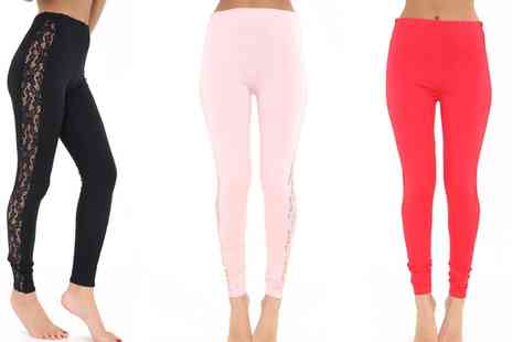 Groupon Goods Global GmbH - Lace Panel Leggings - Save 0%