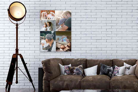 Discount Photo Prints - Personalised A2 collage canvas print - Save 89%