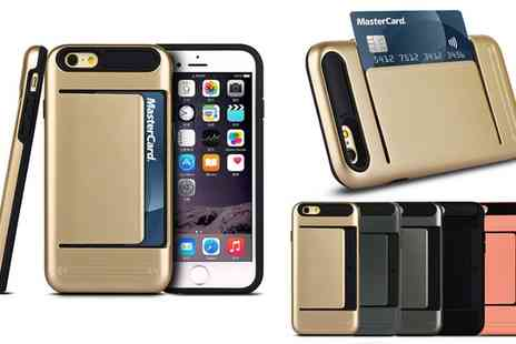 Groupon Goods Global GmbH - Card Case Holder for iPhone 6 or 6 Plus - Save 58%