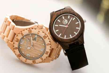 Groupon Goods Global GmbH - Earth Wood Unisex Watches Raywood or Aztec Collection - Save 67%