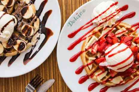 Dolcino - Waffles, Crepe or Sundae with Hot Drink or Prosecco for Two or Four - Save 59%