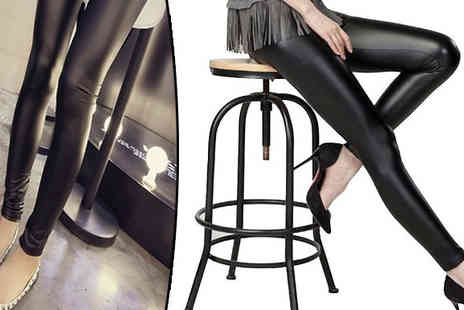 Richardson Group - Faux Leather Slim Leggings - Save 64%