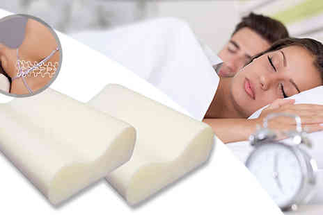 Mscomputers - Anti Snore Memory Foam Pillows - Save 76%