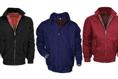 Hawt Online - Mens Lightweight Harrington Jacket Available in Three Colours - Save 58%