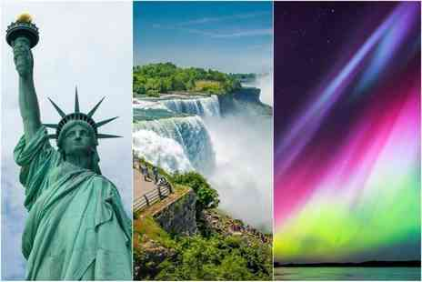 Crystal Travel - Six night Iceland, Niagara Falls and New York break with return flights, transfers, and Northern Lights tour option - Save 22%