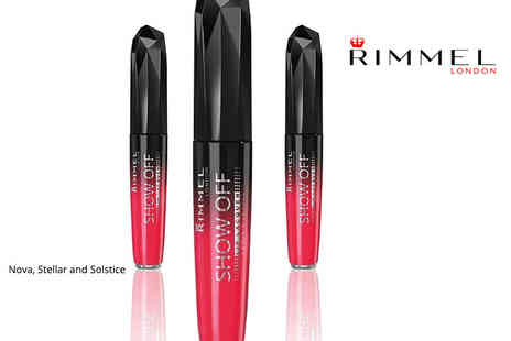 GB GIFTS - Set of three Rimmel London Show Off lip lacquers - Save 72%