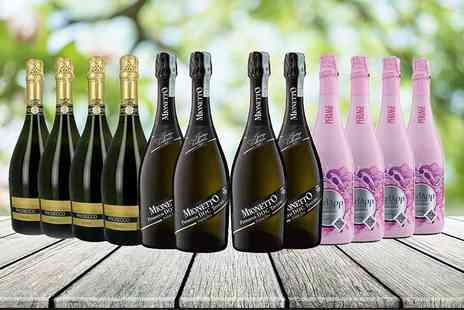 San Jamon - 12 bottle selection of award winning Prosecco and rose - Save 54%