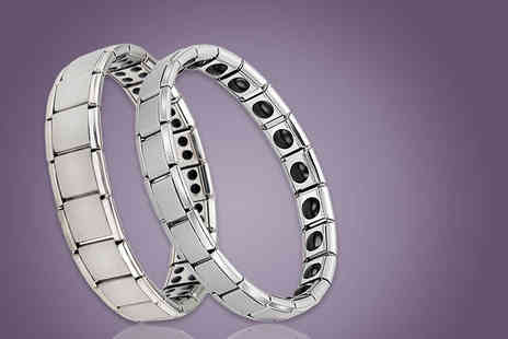 Solo Act - Mens or womens germanium link bracelet - Save 69%