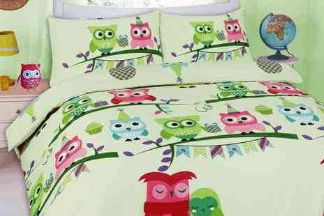 Groupon Goods Global GmbH - Cute Owl Duvet Cover Set - Save 53%