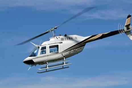 Helicentre Aviation - Helicopter Buzz Flight with Optional Front Seat Experience for One, Two or Three - Save 26%